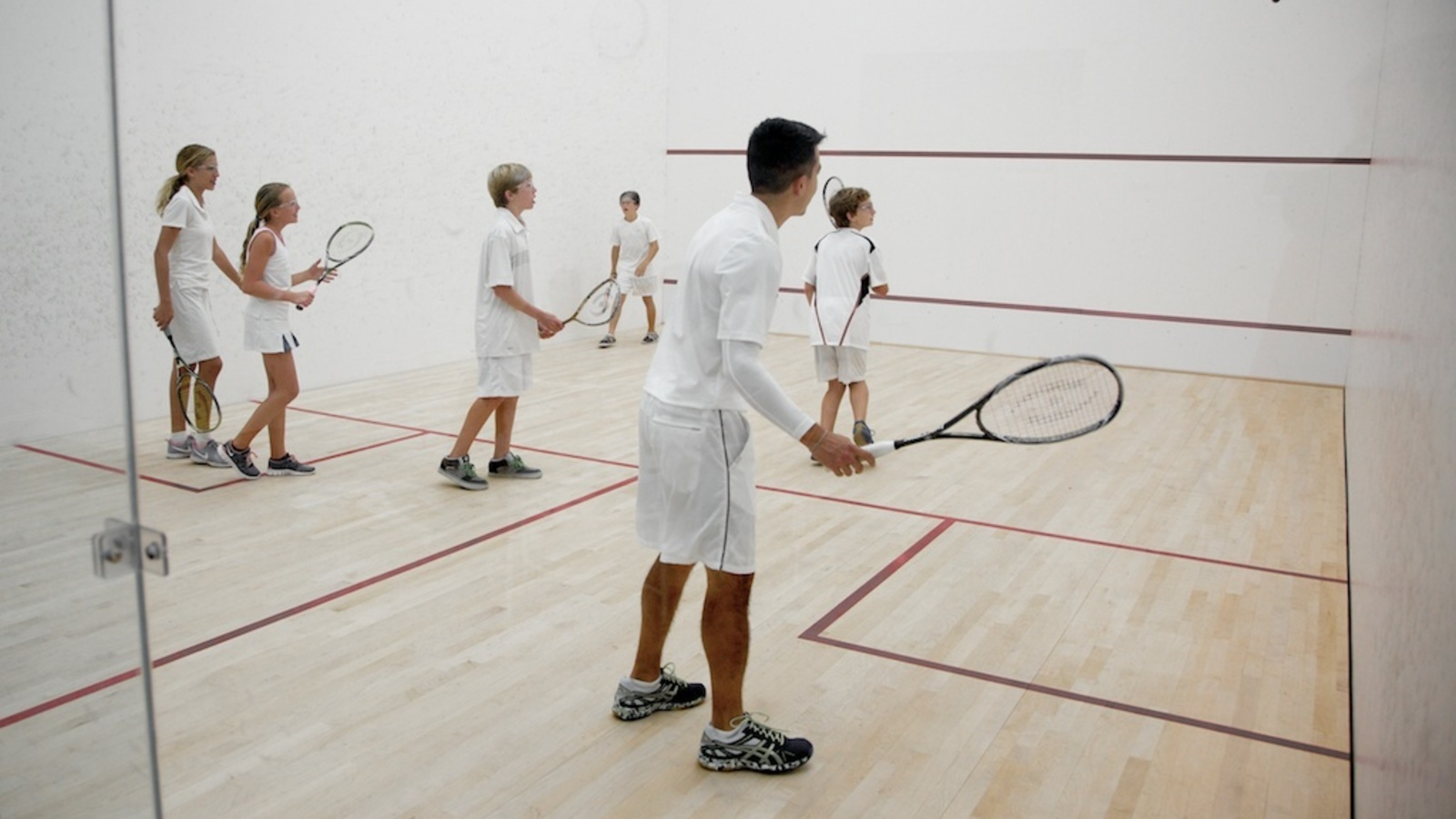 Learning Squash At John's Island